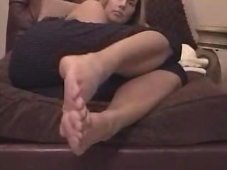 Mikayla Foot Massage And Nylons