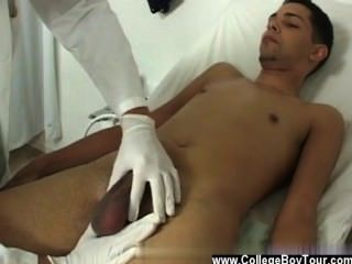Hot Gay Sex Moving Back To Take A Laying Down Pose On The Bed, He