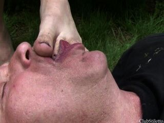 Ear Pulled Dirty Foot Licker