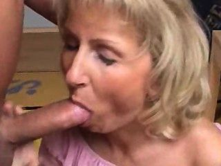 Blonde Mature Loves Cumshot