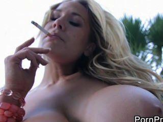 Alanah Rae Smoking