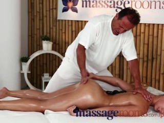 Massage Rooms Beautiful Blondes Orgasm After Pounding From Big Hard Cocks