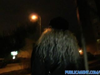 Publicagent Curly Haired Blonde In Glasses Gets Cumshot On Pussy