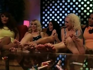 Lesbian Foot Orgy 70s Parody
