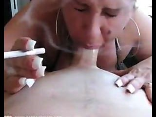Bbw Sucking Cock While Smoking