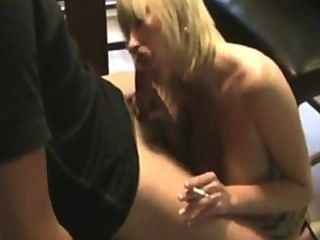 Blonde Milf Stepmom Smoking Sex