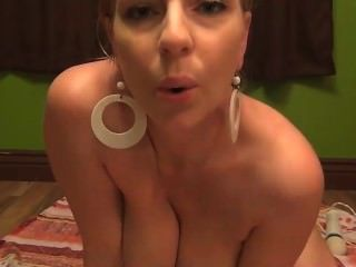 Playing With Toys, Smoking And Squirting Boob Juice From Huge Titties!