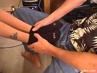Dixies Black Socks Footjob