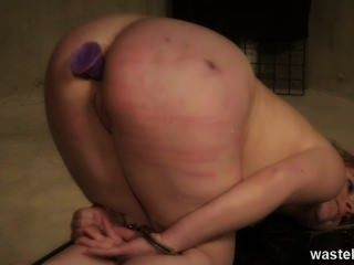 Female Submissive Gets Her Butt Plugged And Pussy Fingered