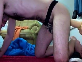 Brazilian Hairy Boy Having Fun With A Huge Dildo