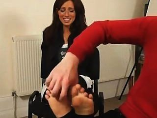 Victoria Stirrups Foot Tickled