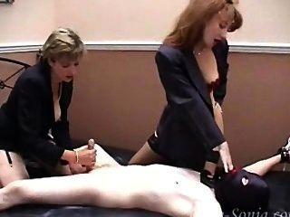 Femdom Handjob With Pussy Lick