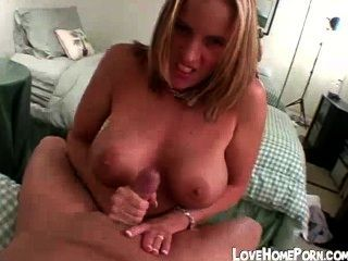 Big Boobed Girl Gives Great Handjob And Takes Facial