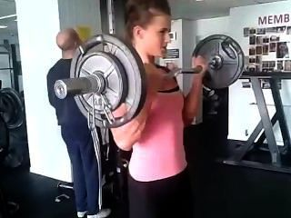 Teen Girl Georgina Pumping Big Biceps