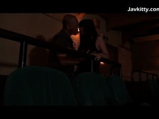 Japanese Girlfriend Horny During The Movie
