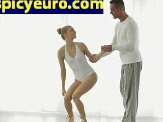 Teen European Ballerina Floor Fuck Her Shaved