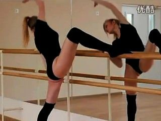 Sexy Russian Ballerinas Workout
