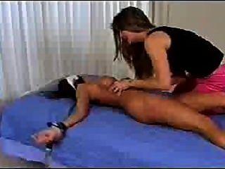 Tickled Naked On Bed