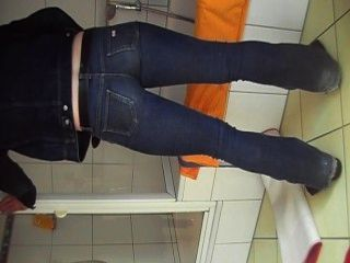 Sexy Boy In Tight Miss Sixty Jeans Rubbs Cock