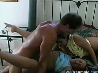 Dirty Threesome And A Creampie