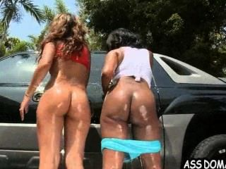 Car Wash Ass! With Jessica Dawn And Her Big Booty Girlfriend.2
