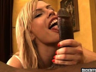 Blonde Slut Swallows Huge Cock 5