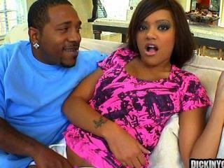 Huge Titty Ebony Slut Takes On A Huge Cock 09