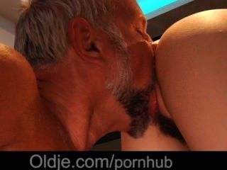 Very Cute And Nasty Girl Fucks With Old Dude In The Kitchen