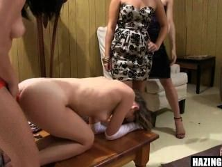 Fresh Meat Lesbians Get Getting Fucked Up By Whores 03