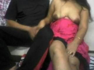Indian Wife Giving Blowjob To Hubby On Webcam Demanded By Her Webcam Lover
