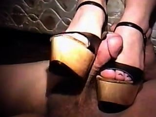 Cum On Black Platform Heels