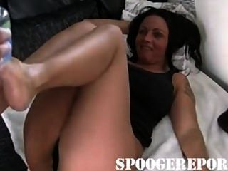 Milf Giving A Great Footjob To Husband
