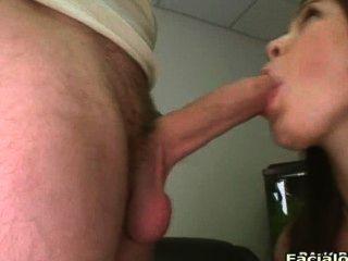 Big Tit Brunette Amateur Sucks And Fucks Cocks