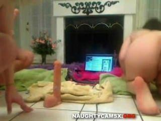 Amazing Dildo Show On Webcam