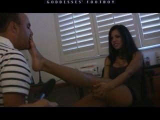 Femdom Mistress Feet Lick