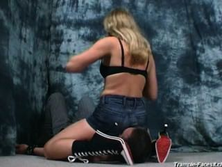 Horny Mistress Facesitting Smothering Jeans Shorts