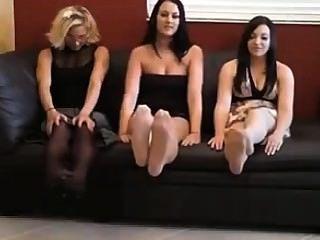3 Nylon Girls Make You Cum
