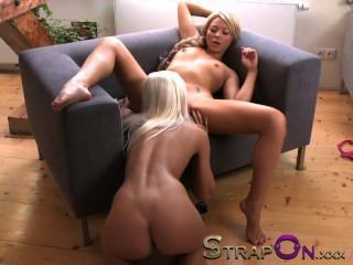 Strapon Two Lesbian Angels Fuck With Strapon