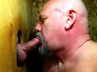 """some Guys Need Kissing"": Bear Sucks Cock And Makes Out In Gloryhole"