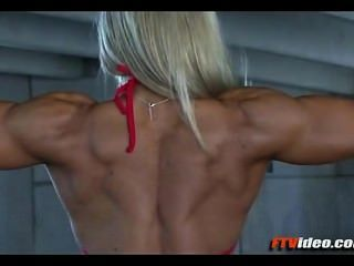 Blonde Muscle Girl 1
