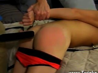 Hot Gay He Paddles The Tied Stud Until His Booty Is Red Before Freeing
