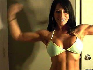 Julia Flexing Webcam