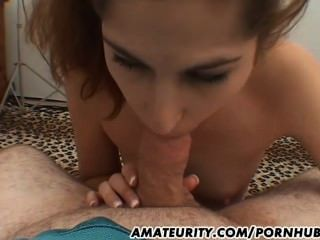 Amateur Teen Girlfriend Full Blowjob With Facial