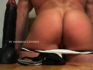 Muscle Ass And A Blig Black Dildo