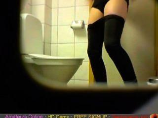 Brunette Amateur Teen Toilet Pussy Ass Hidden Spy Cam Voyeur Live Sex Video