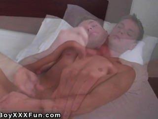 Hot Gay Sex All-american Boy-next-door Strokes His Rock-hard Salami And