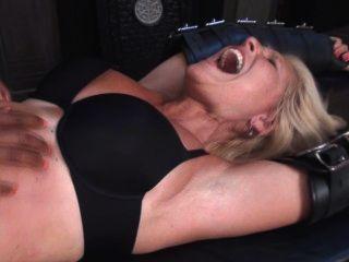 Older Woman Tickled