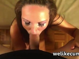New Girl Prepares Herself To Give Her First Blowjob