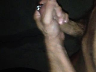 Guy Jerks Off At Night And Cums In The Street