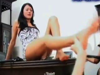 Writhing At Dominas Feet